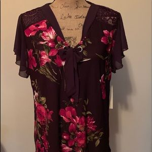 Lovely purple plus size blouse-NWT!